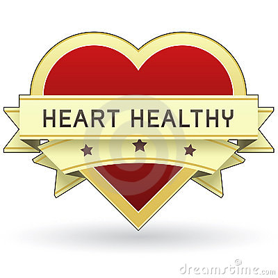 Heart Healthy food and product label or sticker