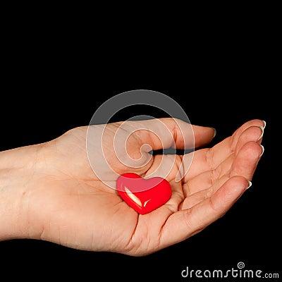 Heart in her hand