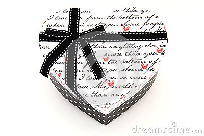 Heart holiday gift box