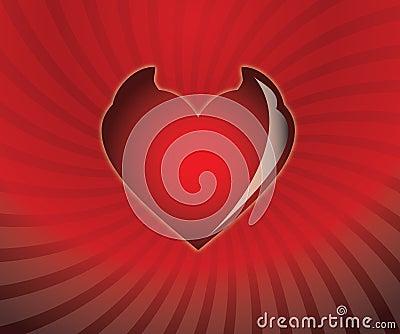 Heart horned