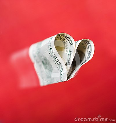Heart from hundred dollars