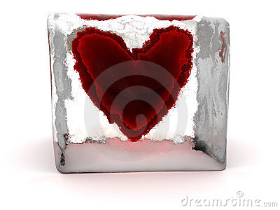 Heart in ice