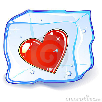 Heart and ice cube