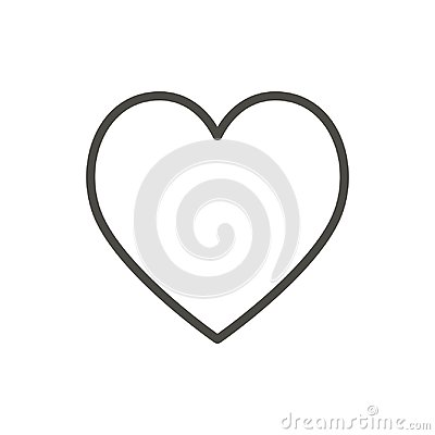 Heart icon, line vector. Outline love symbol. Vector Illustration