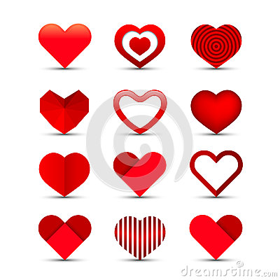 Free Heart Icon Set Stock Image - 28641611