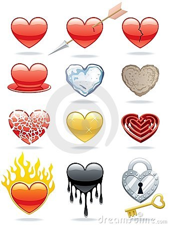 Free Heart Icons Royalty Free Stock Images - 23039999