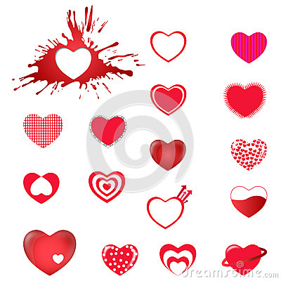 Free Heart Icons Stock Photography - 29983472