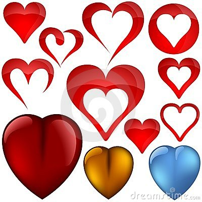 Free Heart Icons II Stock Images - 4776614