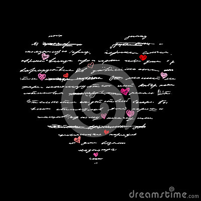 Heart illustration. Love. Vector background.