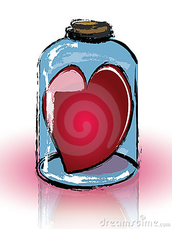 Heart imprisoned in a jar