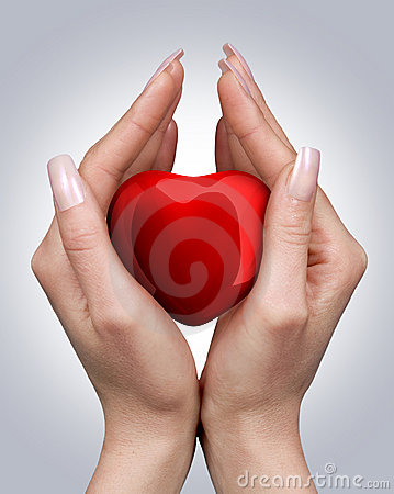 Free Heart In Hands Stock Photo - 4325990