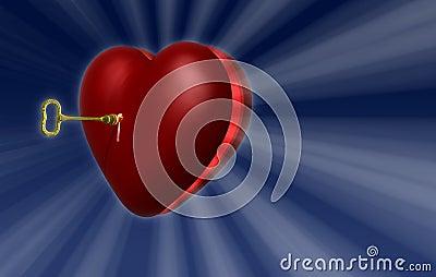 Heart Key A1