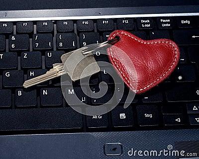 Heart key keyboard key