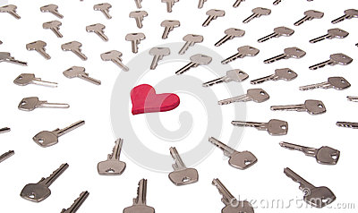 Heart and keys concept