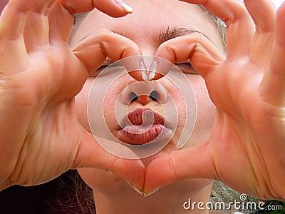 Heart kiss