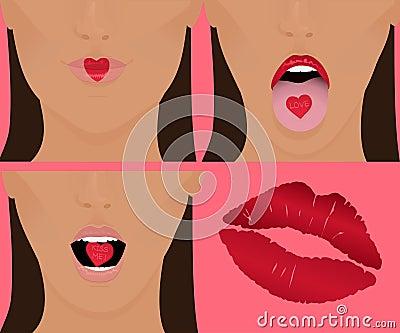 Heart, Kiss, Love