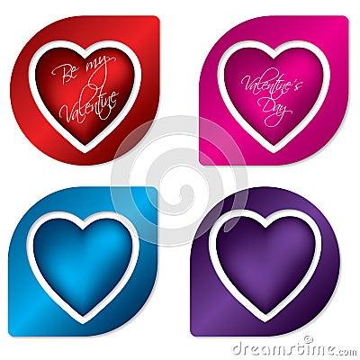 Heart label design set
