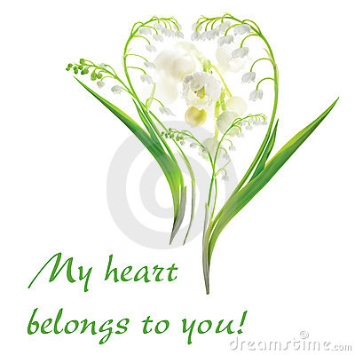 Heart from Lily of the Valley flowers