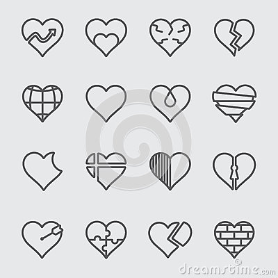Free Heart Line Icon Stock Images - 71393294