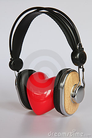 Heart listening to music
