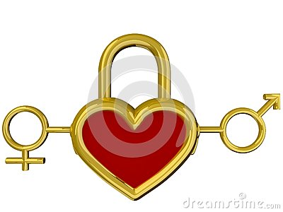 Heart lock Stock Photo