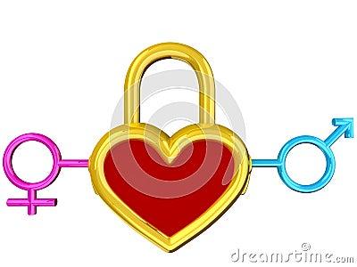 Heart lock Stock Photo