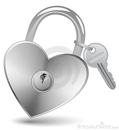 Heart Lock and Key