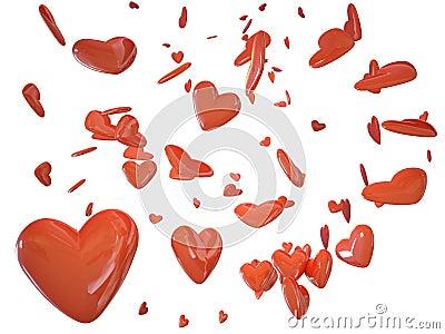 Heart love 3d cg