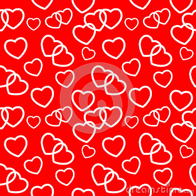Heart love seamless pattern background. Vector Vector Illustration