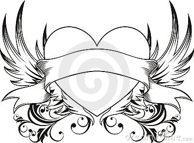 Heart love tattoo