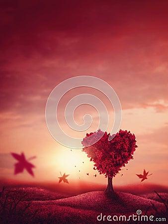 Free Heart Love Tree Stock Image - 86527981