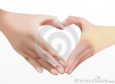 Heart of Love, Two Hands Make Heart Shape