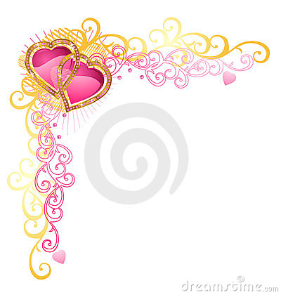 Heart of love / Vector Corner / Valentine s Day