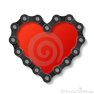 Free Heart Made Of Chain Royalty Free Stock Photography - 23527327