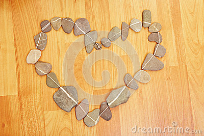 Heart made off stones