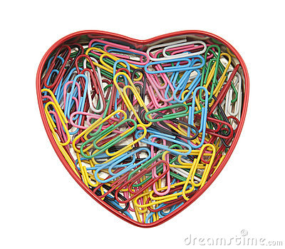 Heart made of paper clips