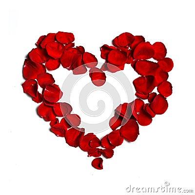 Heart made of  petals