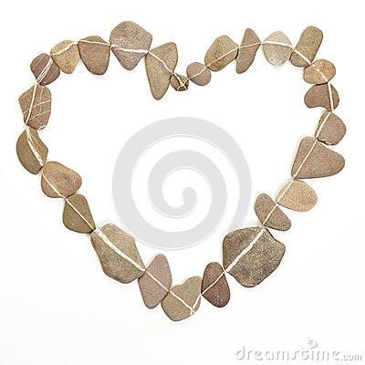 Heart made of stones as symbol for