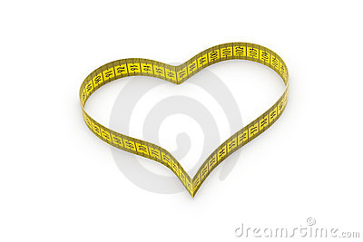 Heart made of tape measure