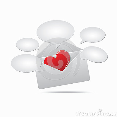 Heart in mail