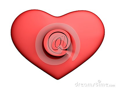 Heart with mail