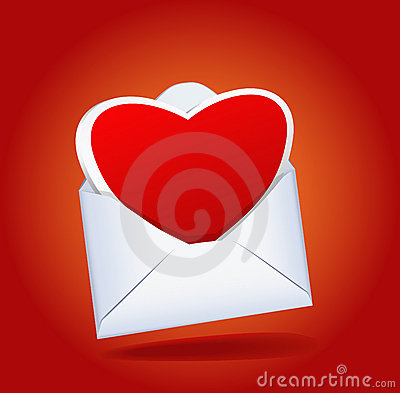 Heart and a mailing envelope.