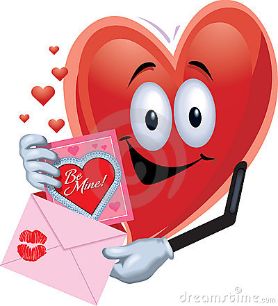 Free Heart Man With Valentine Card Royalty Free Stock Photos - 1870908