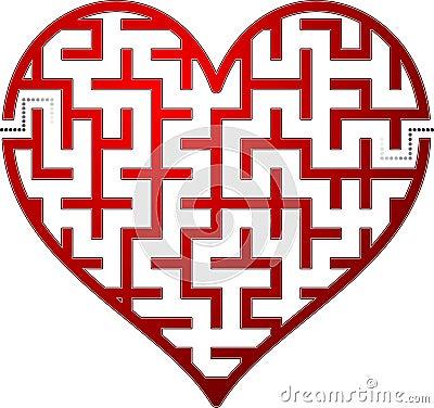 S Alphabet In Heart Heart Maze Royalty Fre...
