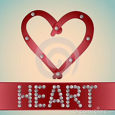 Heart with metal bolts