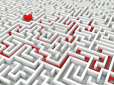 Heart in the middle of the maze
