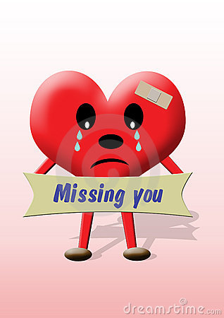 Heart: missing you