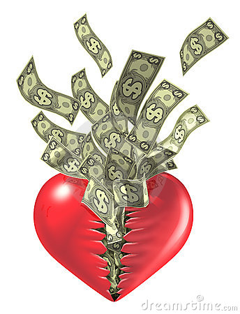 Heart  and money love valentine