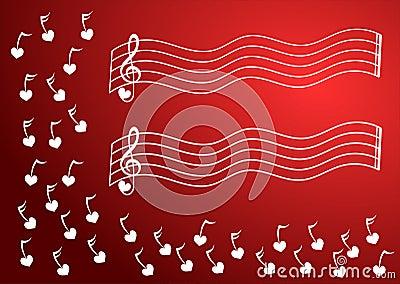 Heart Music Notes Corner