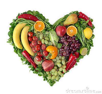 Free Heart Of Fruits And Vegetables Stock Photos - 19353213